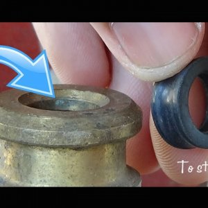 How to stop Gas Leakage in LPG Cylinder (by Changing or Replacing Rubber Washer of the Cylinder)
